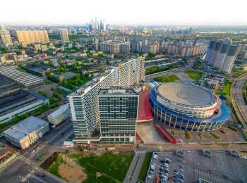 Вид на жилой комплекс Лица сверху